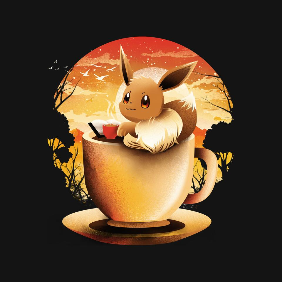TeeFury: Coffee, Book And Moonlight