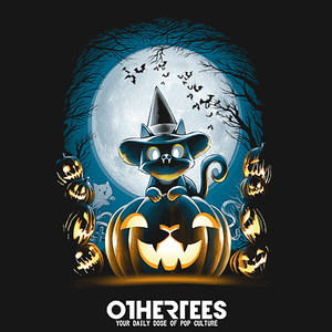 OtherTees: Witch-Cat-Night