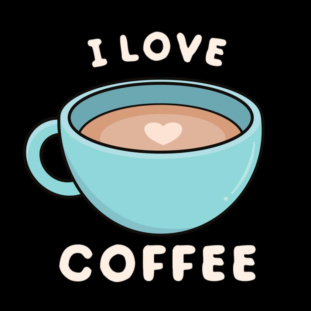 NeatoShop: Blue Coffee Mug I love Coffee