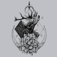 Textual Tees: Howling Buck