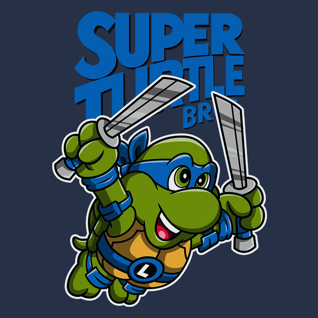 Pop-Up Tee: Super Turtle Bros Leo