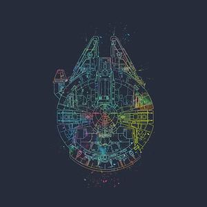 TeePublic: Millenium Falcon Painted Schematic