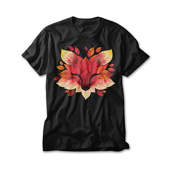 OtherTees: Fox of leaves