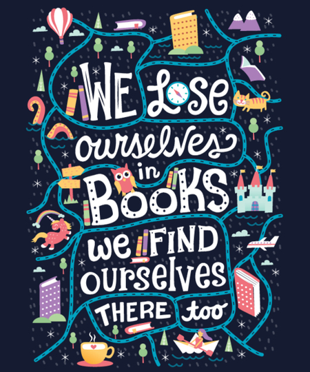 Qwertee: We Lose Ourselves in Books