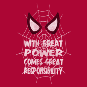 Pop-Up Tee: With Great Power