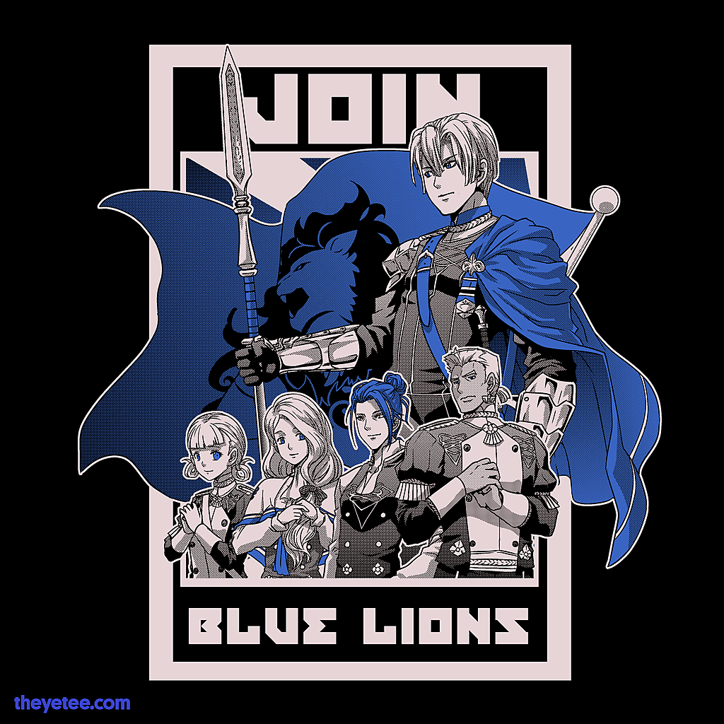 The Yetee: Join Blue Lions