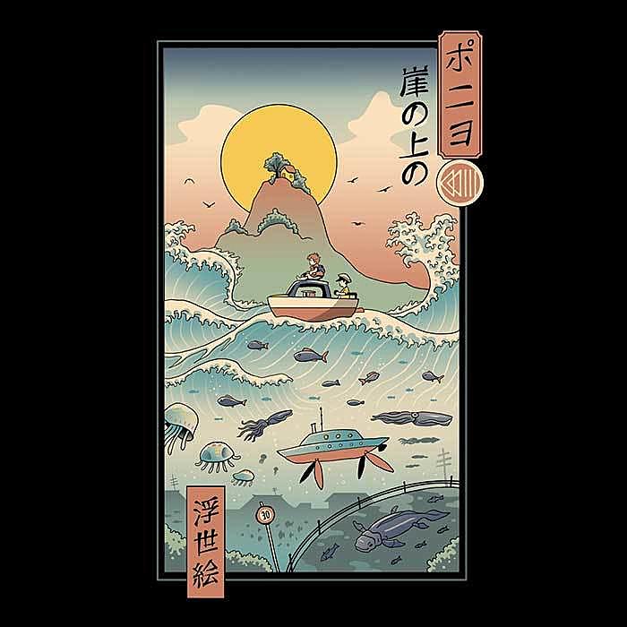 Once Upon a Tee: Ukiyo-e by the Sea