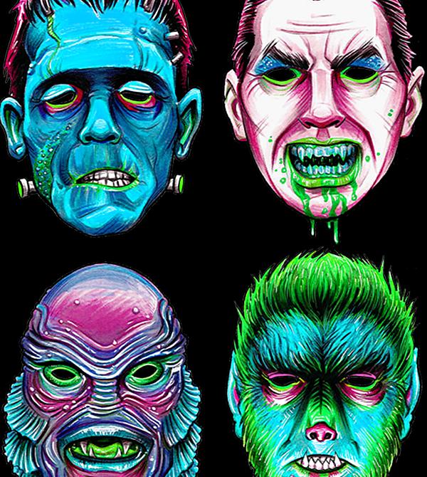 teeVillain: Monster Mash Fluorescent Variant