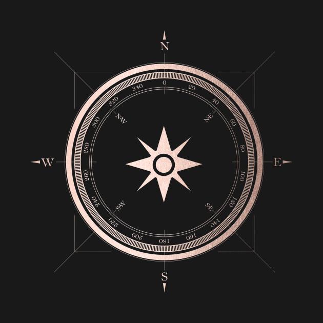 TeePublic: Rose Gold Compass III