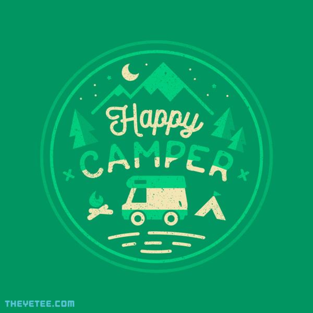 The Yetee: Happy Camper (Green)