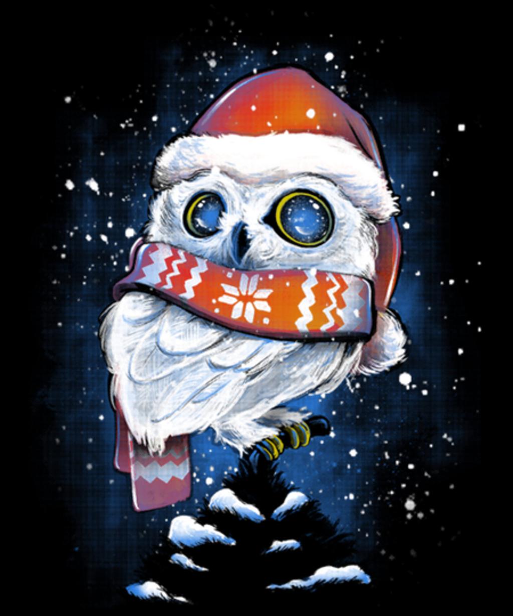 Qwertee: Christmas Owl