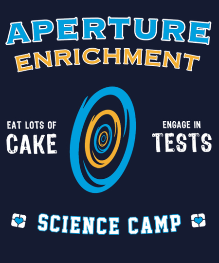 Qwertee: Aperture Science Camp