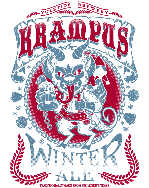teeVillain: Krampus Winter Ale
