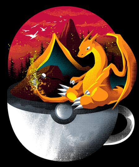 Qwertee: Coffeemon Fire