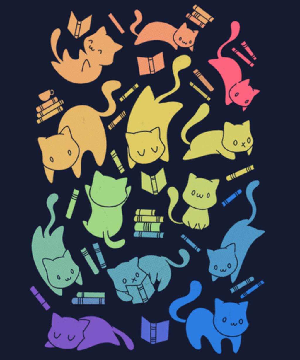 Qwertee: Cats & Books
