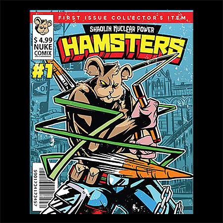 MeWicked: Shaolin Nuclear Power Hamsters - Comic Magazine Style