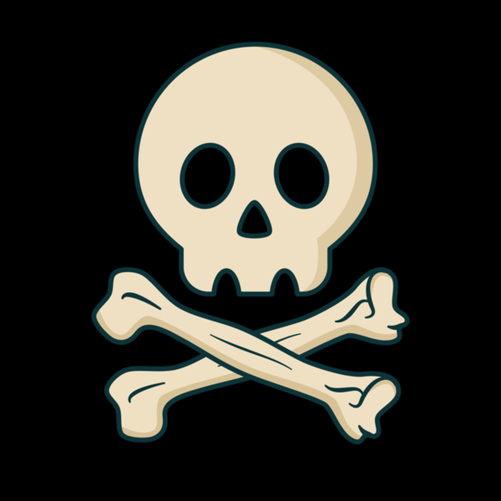 NeatoShop: Cool Pirate Skull T-Shirt