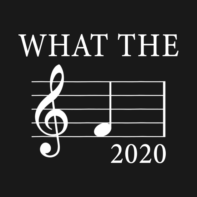 TeePublic: What The F Musical Note 2020 Funny Shirt Gift For Musicians Lover