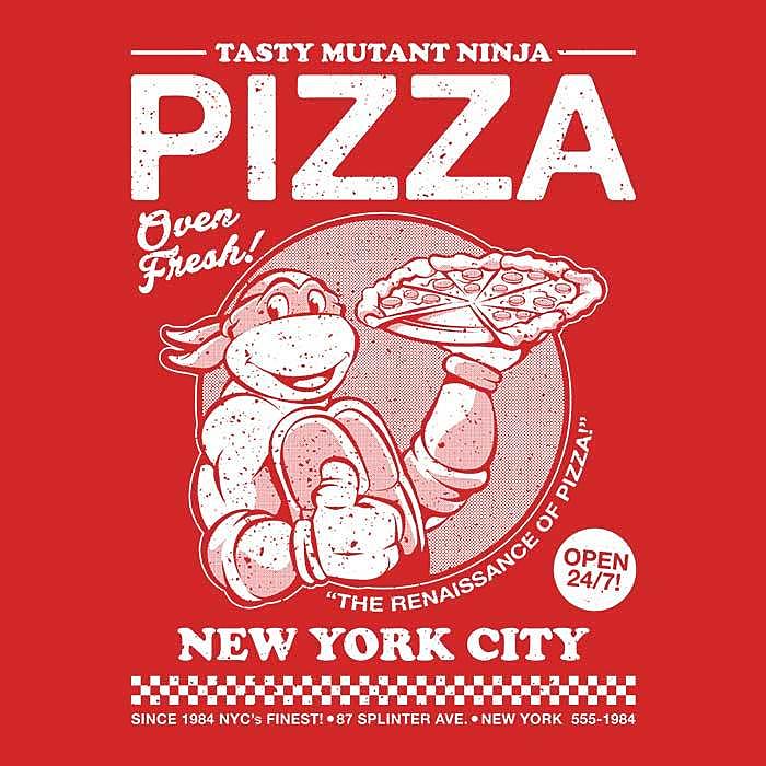 Once Upon a Tee: Tasty Mutant Ninja Pizza