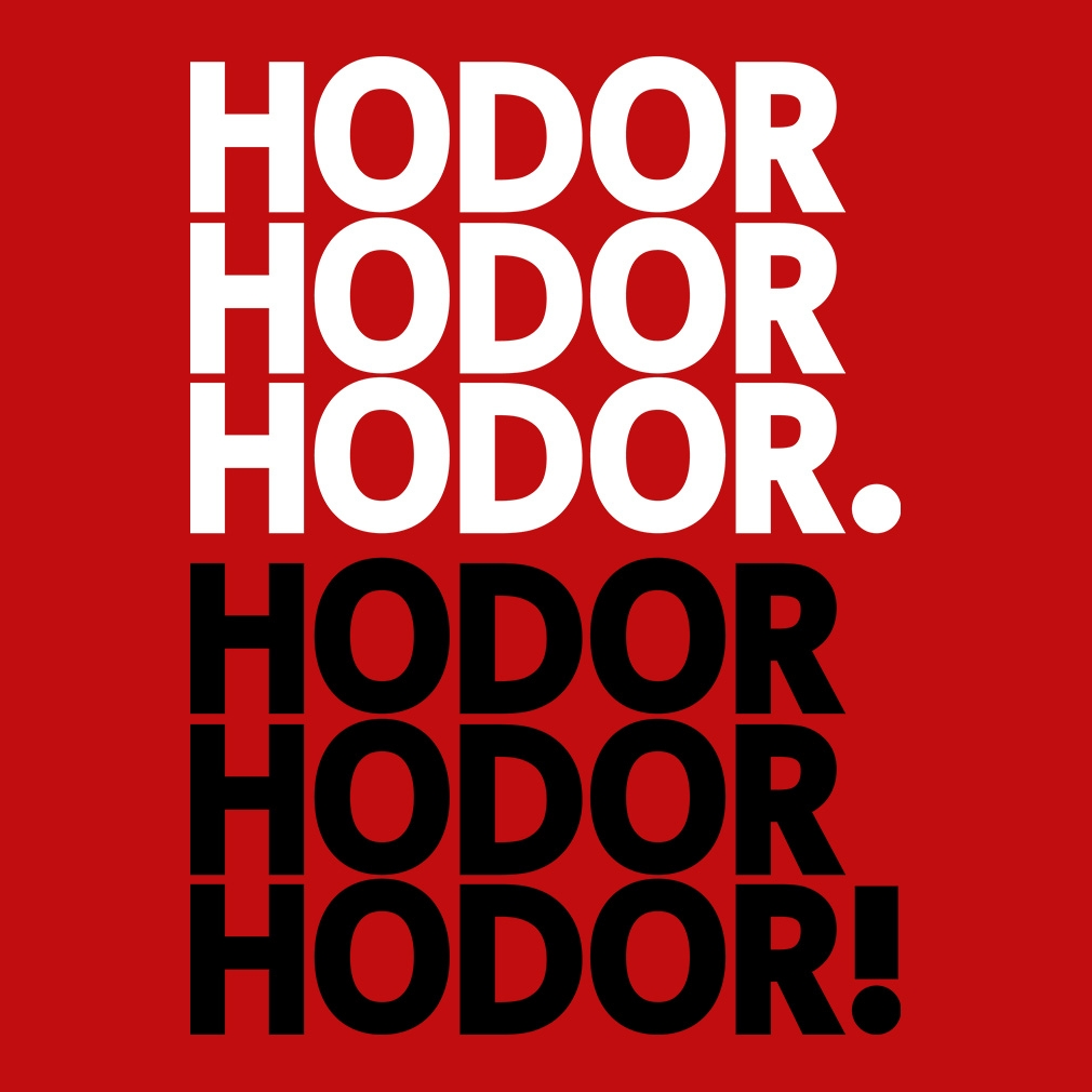 TeeTournament: Hodor get over it