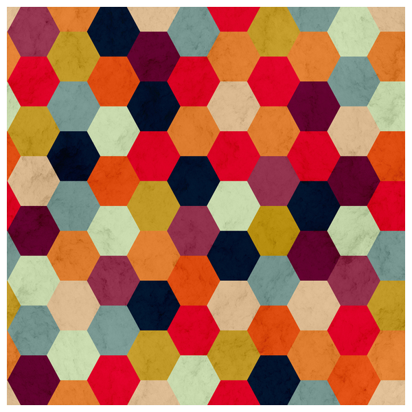 NeatoShop: Colorful Beehive Pattern