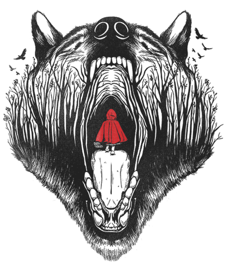 Qwertee: Little red riding hood