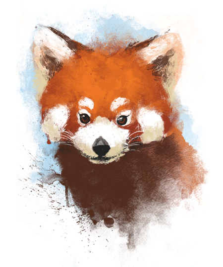 Qwertee: Red panda ink