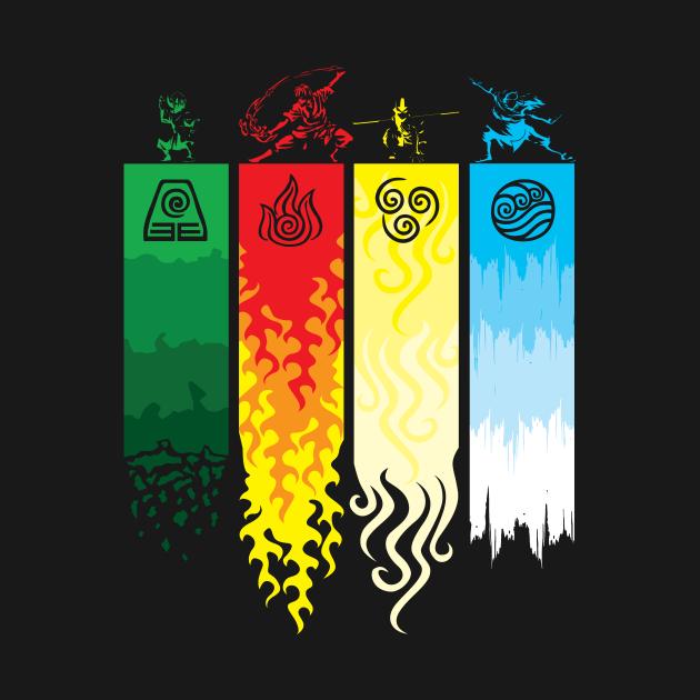 TeePublic: Element Symbols Avatar The Last Airbender