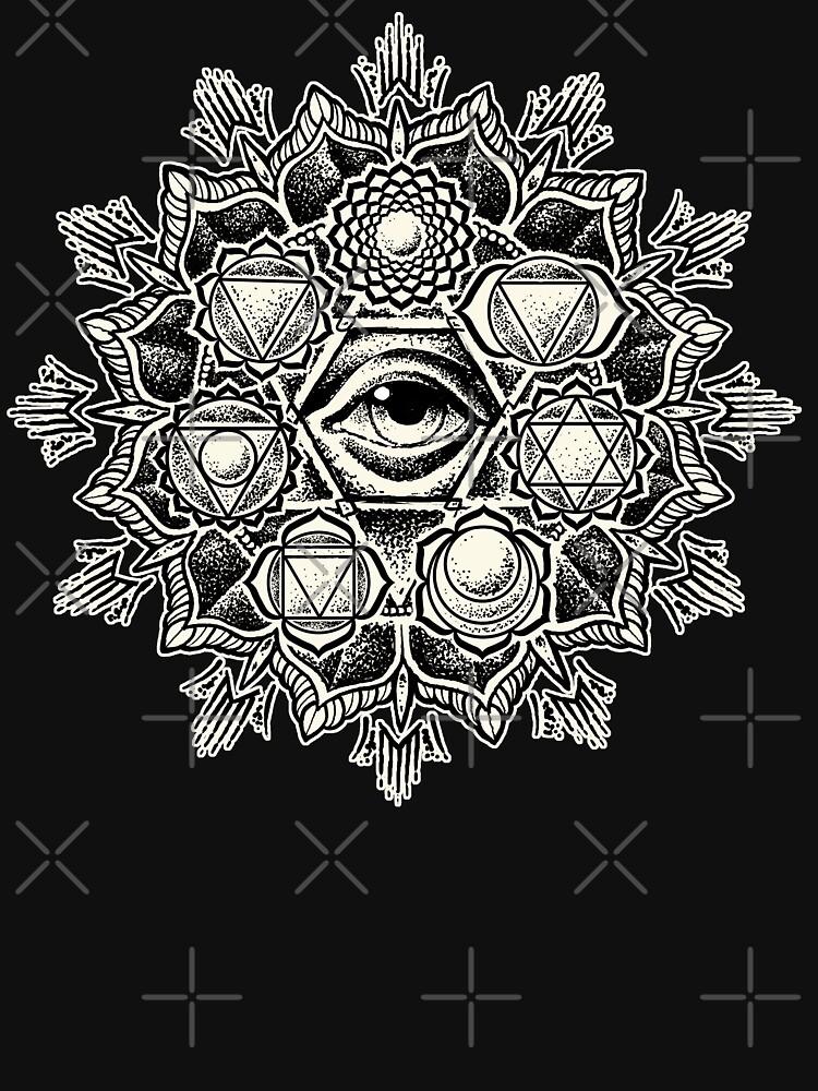 RedBubble: Anahata Seven Chakra Flower Mandala