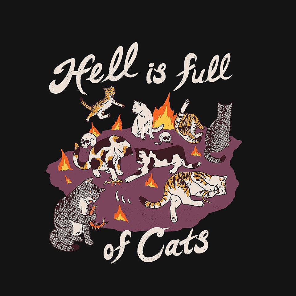TeeFury: Hell is Full of Cats