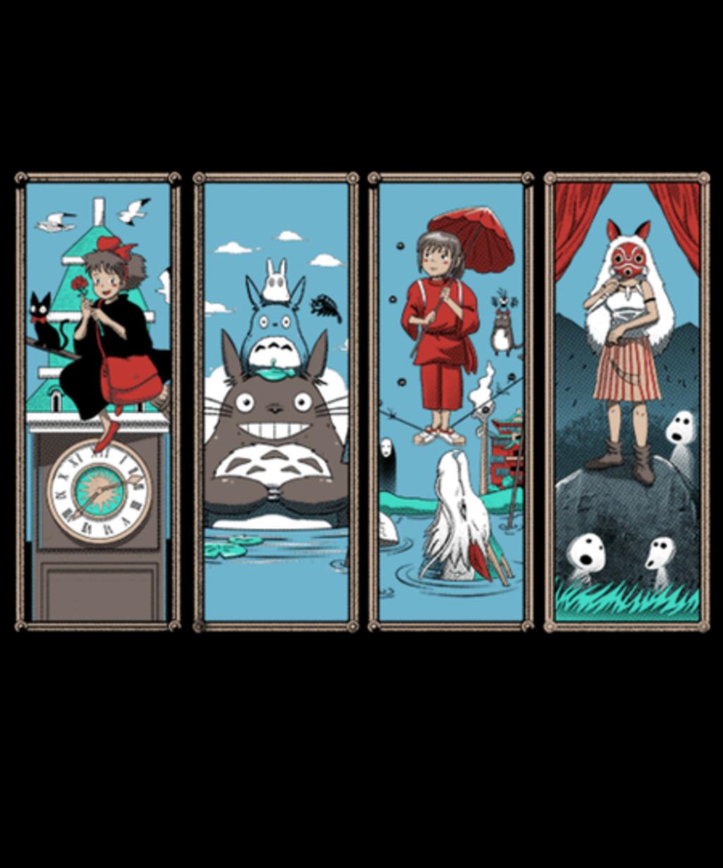 Qwertee: Haunted Ghibli Mansion