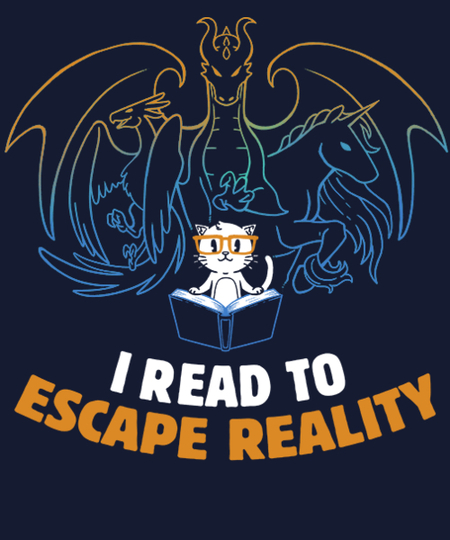 Qwertee: I Read to Escape Reality