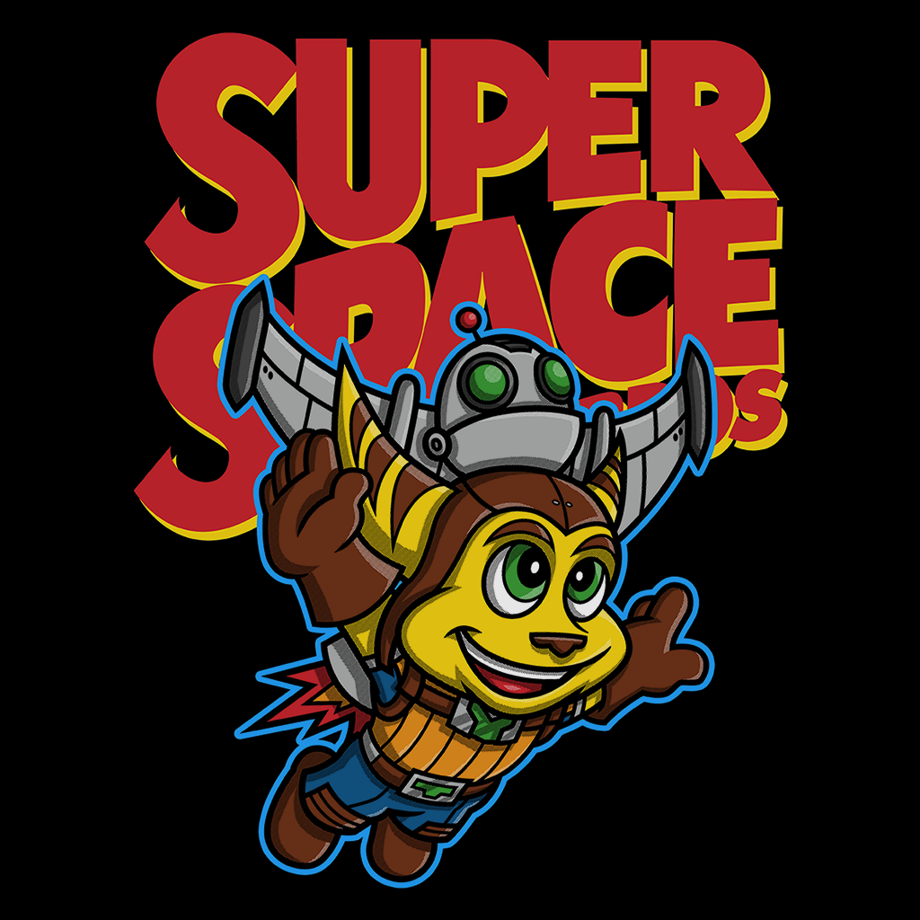 Pop-Up Tee: Super Space Bros