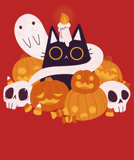Qwertee: Pumpkin Cat
