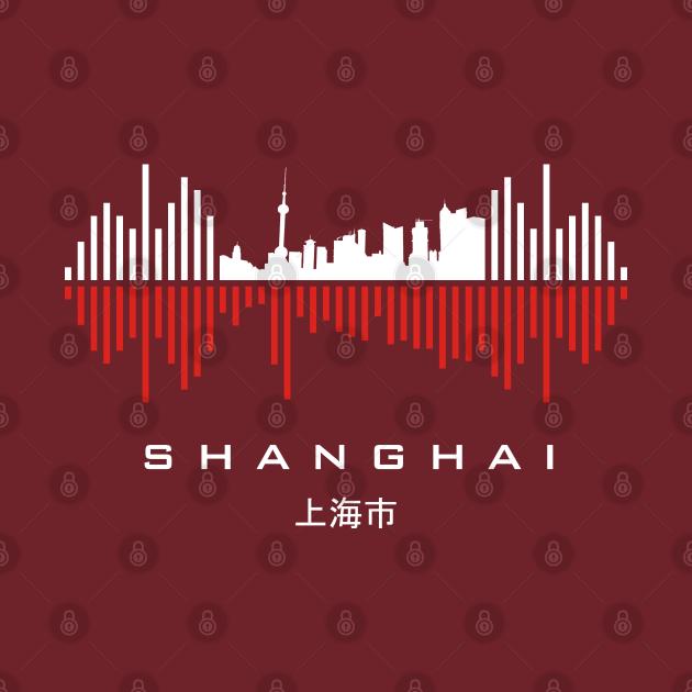 TeePublic: Shanghai (上海市) Soundwave