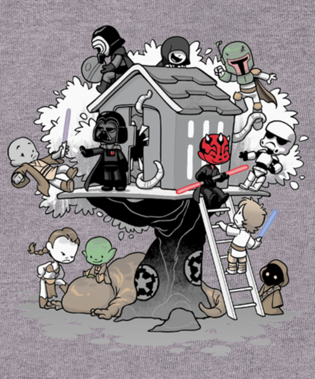 Qwertee: Dark Side Club