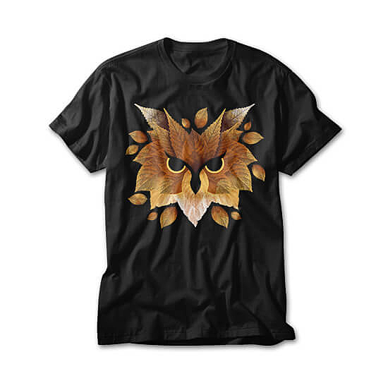 OtherTees: Owl of leaves