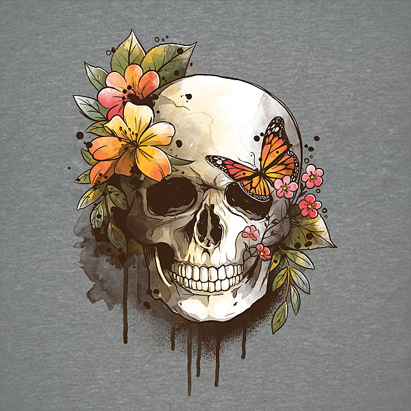 NeatoShop: skull spring watercolor