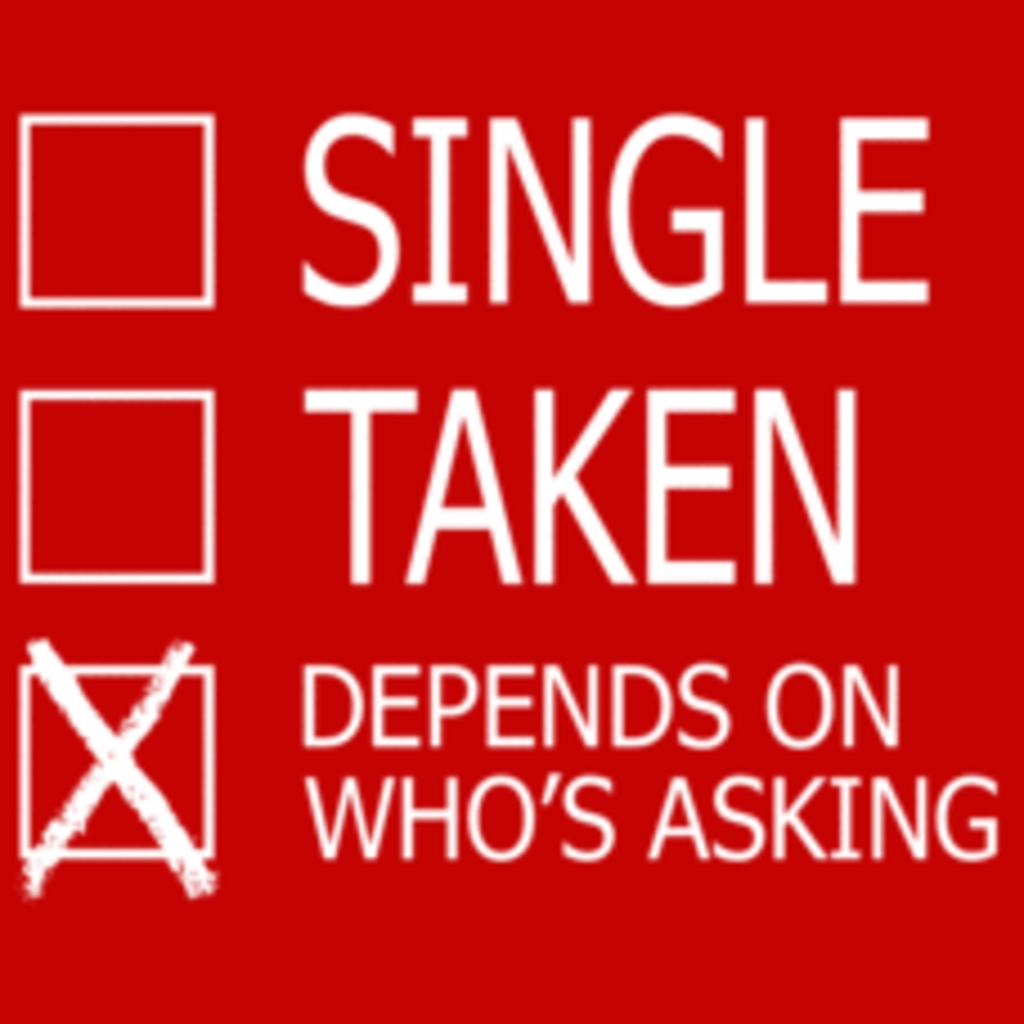 Textual Tees: Single, Taken, Depends On Who's Asking
