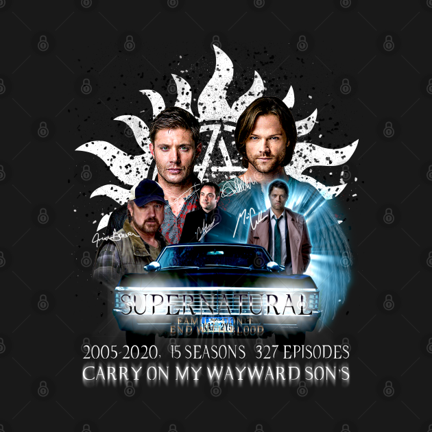 TeePublic: Limited Edition Supernatural Family don't end with Blood 4 W Signed W2