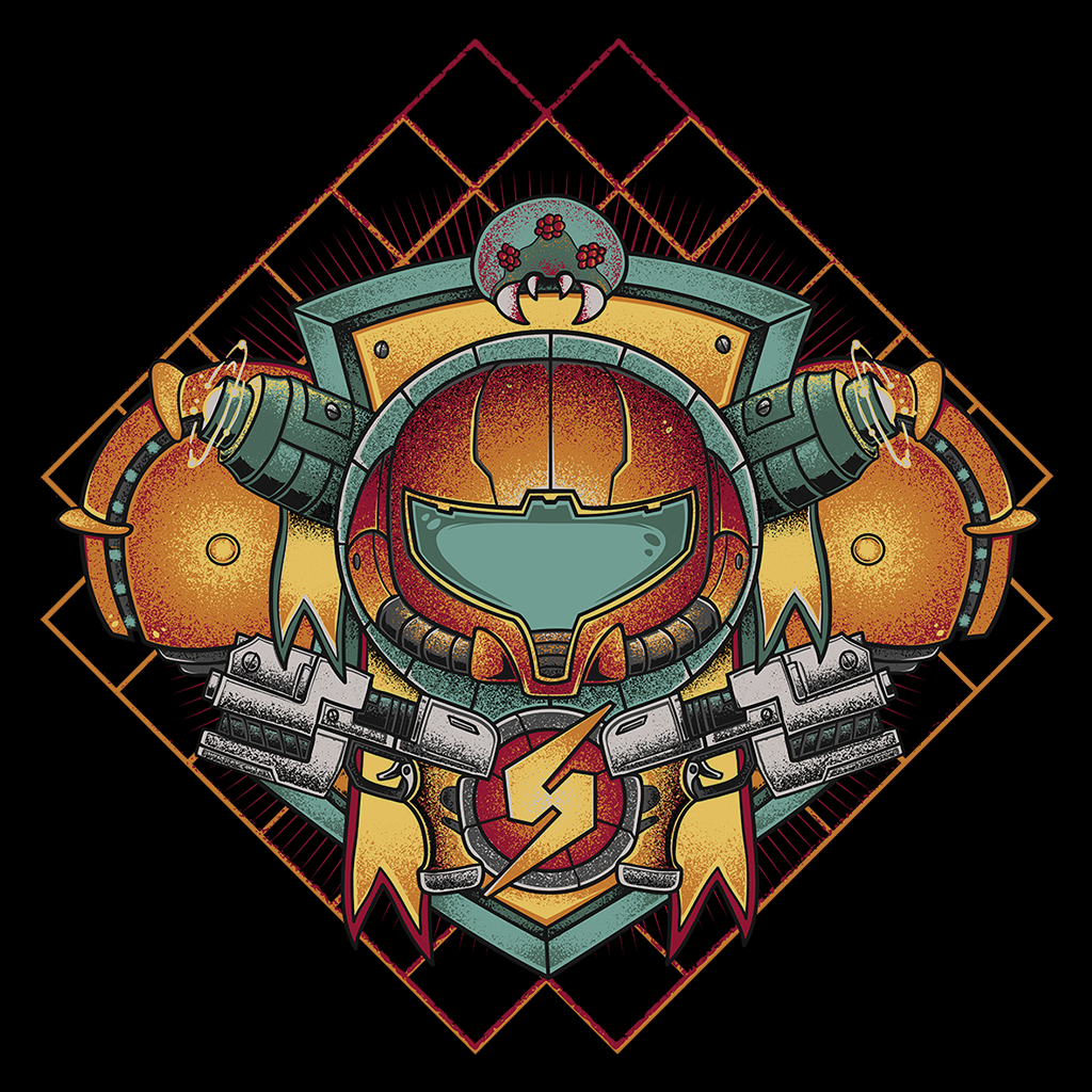 Pop-Up Tee: Samus Crest
