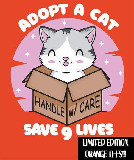 Qwertee: adopt a cat