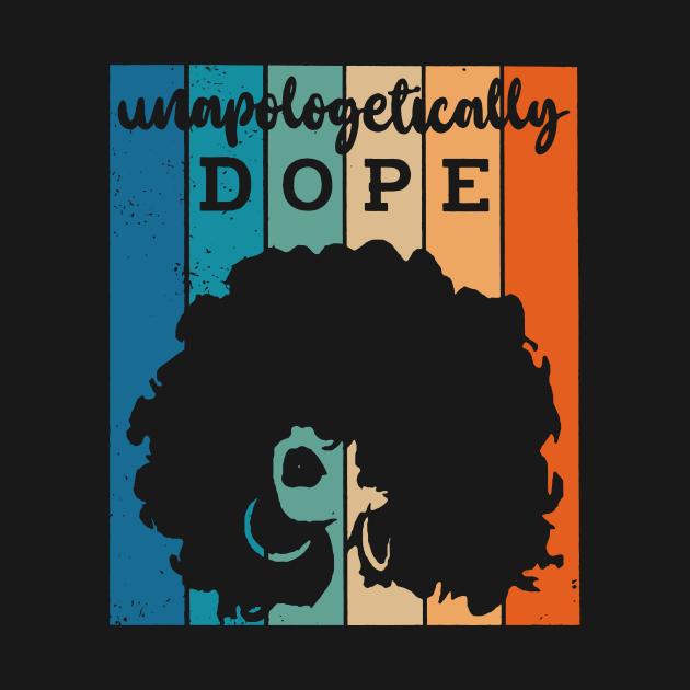 TeePublic: Black Woman Retro Unapologetically Dope