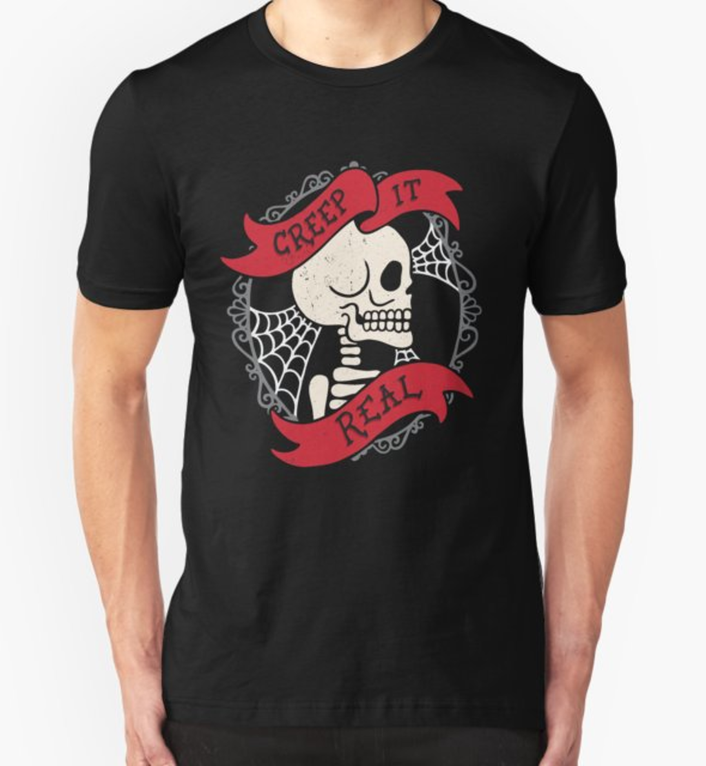 RedBubble: Creep It Real Vintage Skeleton
