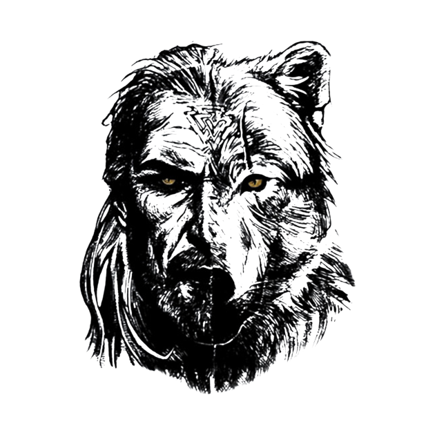 TeePublic: wolf viking warrior