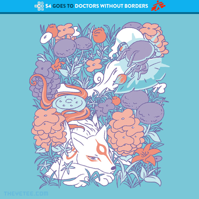 The Yetee: Floral Wolf