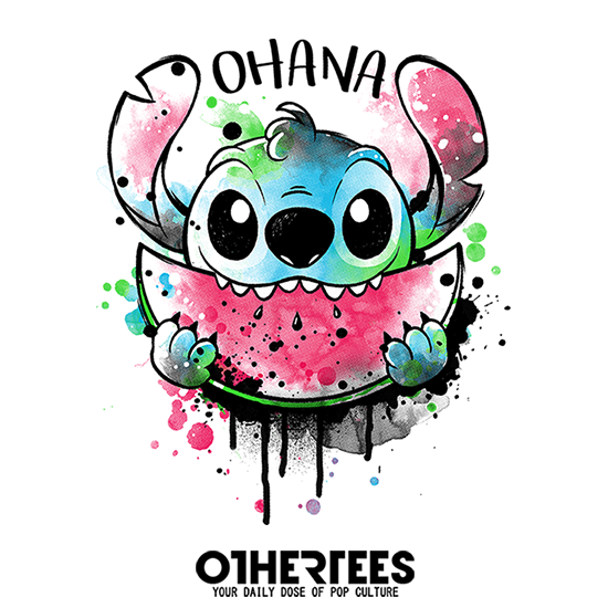 OtherTees: Ohana watercolormelon