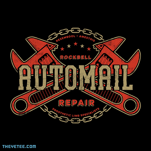 The Yetee: Rockbell Automail Repair