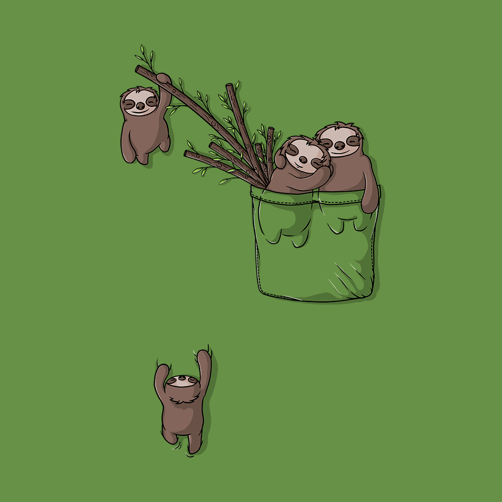 TeeTee: Pocket Sloth Family