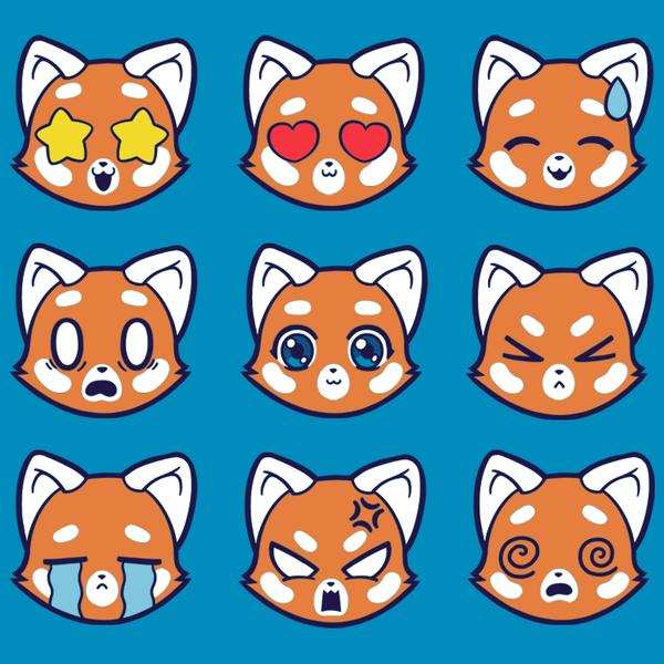 TeeTurtle: Red Pandamojis